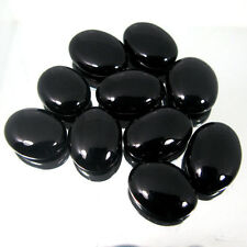 Natural Black Onyx 4x6mm - 15x20mm Cabochon Oval Top Quality Loose Gemstone