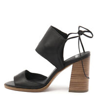 New Mollini Mindy Black Natural Heel Womens Shoes Casual Sandals Heeled