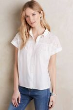 NEW Anthropologie Middlebury Eyelet Top by Vanessa Virginia, White, Size 14