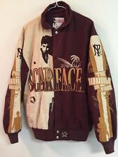 JH DESIGN SCARFACE JACKET! GREAT GRAPHICS! JEFF HAMILTON! COTTON SHELL! 6XL