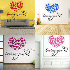Lovely Heart Pattern Home Wall Sticker DIY Decal Removable Wall Decoration AU