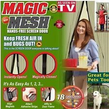 NEW Magic Mesh Hands-Free Screen Net Magnetic Anti Mosquito Bug Door Curtain BN