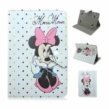 """Flowers Minnie mouse PU Leather stand case cover for Universal 7"""" 10"""" tablets PC"""