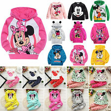 Baby Kids Boys Girls Mickey Minnie Hoodies Coat T Shirt Tops Pants Dress Outfits