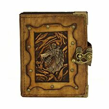 Dragon Head Brown Handmade Leather Journal Notebook Diary Sketchbook Book