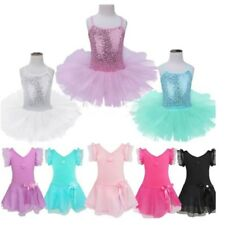 Girls Toddler Ballerina Costume Skirt Ballet Dance Wear Leotard Gym Tutu Dress