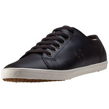 Fred Perry Kingston Mens Trainers Dark Chocolate New Shoes