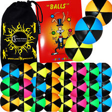 ASTRIX UV Pro Thud Juggling Balls - Set of 3 juggling Ball + Tricks Book & Bag