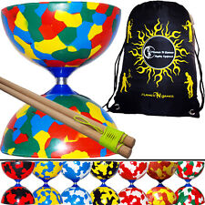 JESTER Diabolos - Pro Diabolo Set + Wooden Diablo Sticks & String + Bag
