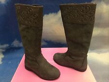 Jessica Simpson Girls Gray Fashion Zipper Boot Youth Size 3, 5 /Women Size 5, 7