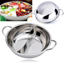 28/30/32/38cm Stainless Steel Hot Pot Induction Shabu Cooker Cookware Compatible