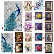 DIY 5D Diamond Painting Flower Peacock Religion Embroidery Cross Stitch Crafts