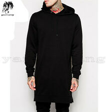 2016 New Hip-Hop Mens Black Cotton Sweater Hoodie Long Sleeve Sweatshirts