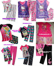 *NEW GIRLS 2PC HELLO KITTY SPONGEBOB DISNEY Minions PAJAMAS SET 4 5 6 7 8 10