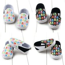 0-12M Infant Baby Boy Girl Cute Shoes Toddler Kid Soft Sole Prewalker Crib Shoes
