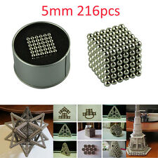 216PC 5mm Cube Sphere Magnetic Magnet Balls  Spacer Bead Child Adult DIY Toy LOT