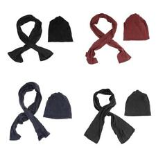 Women Ladies Girls Polyester Frozen Fleece Winter Hat and Scarf Set One Size