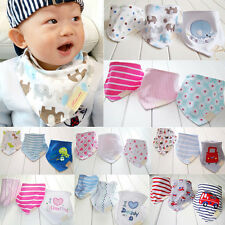 3Pcs Baby Kids Girl Boy Bibs Saliva Towel Triangle Dribble Bandana Head Scarf MD