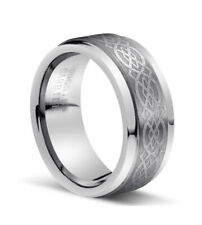 8MM Men Or Ladies Infinity Celtic knots Tungsten Carbide Wedding Band Ring