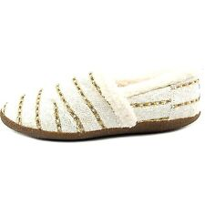 TOMS WOMENS SLIPPER WHITE GOLD BOUCLE WOOL NEW SLIP-ON SHOES SIZE 5-12