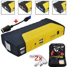 68800mAh 2 USB Car Jump Starter Emergency Charger Booster Power Bank Battery SOS