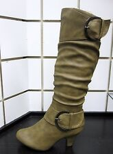 "NEW WOMEN Top Moda DOUBLE Buckle Knee High Zipper Boots ""BAG-9"" Fashion Boots"