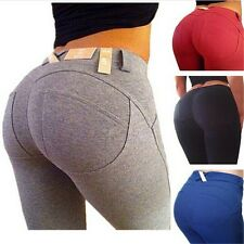 Women Sexy Pencil Pants High Waist Slim Fit Leggings Stretchy Jeggings Trousers