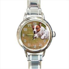 Jack Russell Terrier Italian Charm Watch (Battery Included)