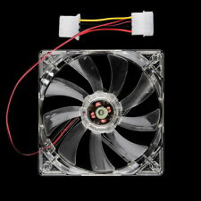Easy Installed NEw 80mm Fans 4 LED Blue for Computer PC Case Cooling Fan Hot KA