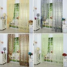 Voile Door Window Curtain Drape Panel Sheer Scarf Valance Trendy Chic Leaf Tulle
