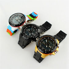 New Unisex Watch Sport Watertight LED Digital Display Analog Quartz Wrist Watch