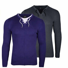 Men Casual Design Autumn Cotton Knitted Round Neck Sweater Long Sleeve Shirts AU