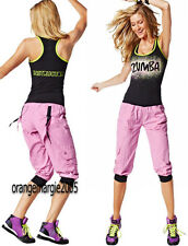 ZUMBA INSTRUCTOR Racerback Tank+Cargo Capri Pants 2Pc.Set~ U.K.Convention RARE S