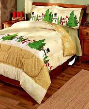 3PC~Holly Jolly~Comforter Sets Full/Queen King Size Holiday Christmas Bedding