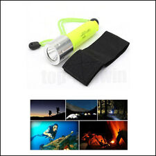 Handheld Diving Flashlight LED Underwater Scuba Dive Safety Torch 18650 2000LM