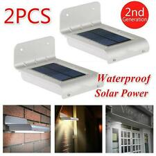 2pcs 16 LED Solar Power Motion Sensor Security Lamp Outdoor Waterproof Light #SV
