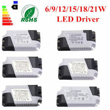 Dimmable LED Light Lamp Driver Transformer Power Supply 6/9/12/15/18/21W Hot
