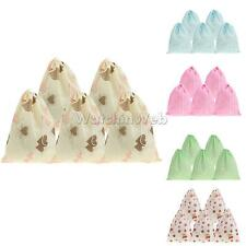 5 Printed Portable Shoes Bag Travel Storage Pouch Drawstring Dust Bags