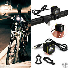 5000LM 3x XML T6 LED Front Rechargeable Bicycle Head Light Headlamp Headlight
