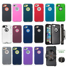 Silicone Shockproof Protective Hard Belt Clip Case Cover for iPhone 7 & 7 Plus