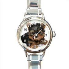 Cute Yorkshire Terrier Puppy Dog Italian Charm Watch (Battery Included)