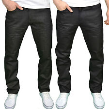 Twisted Faith Mens Designer Branded Regular Fit Zip Fly Coated Denim Jeans, BNWT