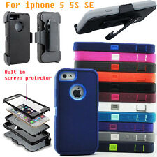 Silicone Shockproof Protective Hard Belt Clip Case Cover for iPhone 5 5S SE