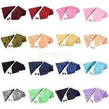 Multi-Color Fashion Mens PAISLEY NeckTie Handkerchief Matching Neck Tie Set