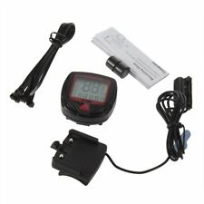 Digital Bicycle Bike LCD Cycling Computer Odometer Speedometer Stopwatch New SZ