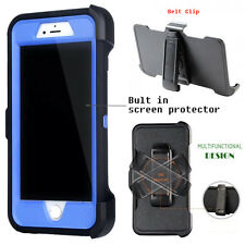 For Apple iPhone Case Cover Navy B - (Belt Clip fits Otterbox Defender series)