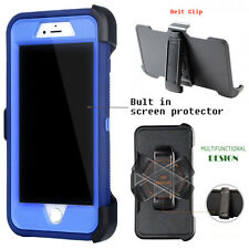 For Apple iPhone Case Cover  R blue - (Belt Clip fits Otterbox Defender series)