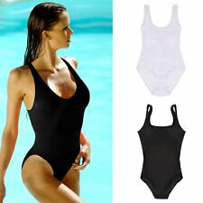 Summer Women One Piece Bikini Monokini Swimsuit Padded Backless Swimwear LOT QT