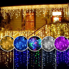 96-300 LED String Fairy Lights Xmas Party Icicle Curtain Lamp 220V UK or EU Plug