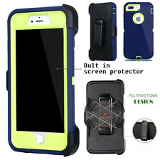 For Apple iPhone Case Cover  Navy G - (Belt Clip fits Otterbox Defender series)